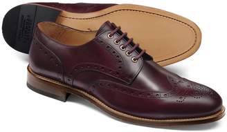 Charles Tyrwhitt Oxblood Eyelet Derby Brogue Shoe Size 8