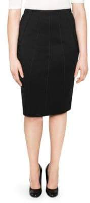Stizzoli, Plus Size Wool Panelled Pencil Skirt