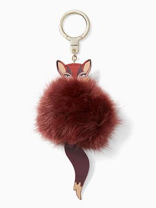 Kate Spade Fox pouf keychain