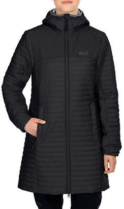 Jack Wolfskin Hooded Quilt Coat