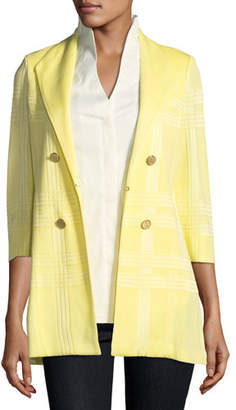 Misook 3/4-Sleeve Long Statement Jacket, Petite