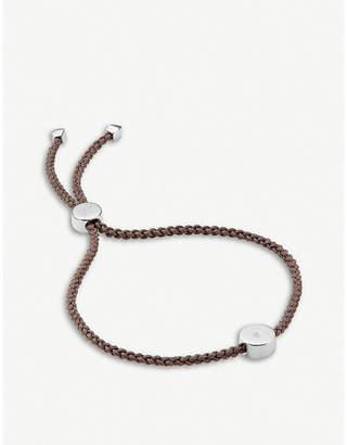 Monica Vinader Linear Solo sterling silver and diamond friendship bracelet