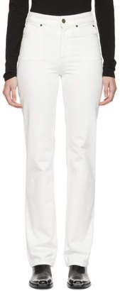 Calvin Klein White Straight-Leg Jeans