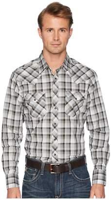 Wrangler Retro Long Sleeve Two-Pocket Snap Plaid Men's Long Sleeve Button Up