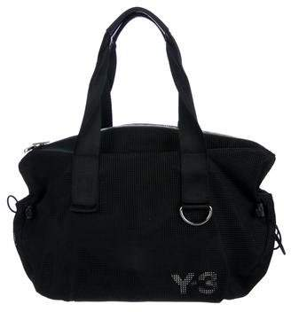 Y-3 Leather-Trimmed Mesh Shoulder Bag