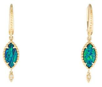 Rina Limor Fine Jewelry 14K Opal & Diamond Drop Earrings