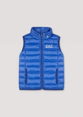 Emporio Armani Ea7 BoyS Genuine Down Sleeveless Puffer Jacket