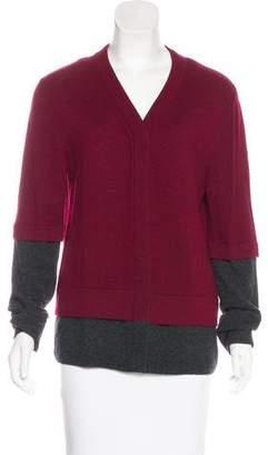 Balenciaga Cashmere Two-Tone Cardigan