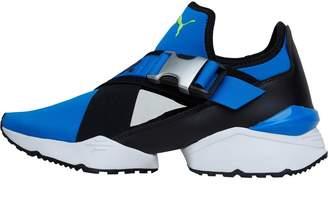 497f45dd2c7736 Puma Womens Muse EOS Trainers Plat Blue Black