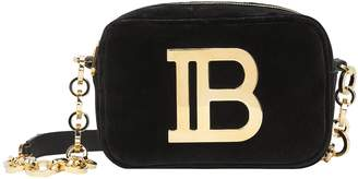 Balmain B Camera Velvet Crossbody Bag