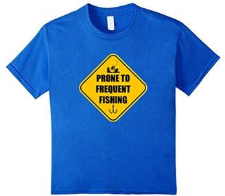 Fishing T-Shirt - Prone to Frequent Fishing - Funny Sign Tee