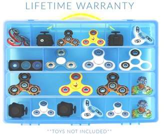 Life Made Better Fidget Spinner Case, Toy Storage Carrying Box. Figures Playset Organizer. Accessories For Kids by LMB ?