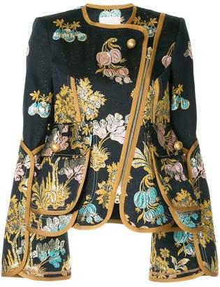 Peter Pilotto floral-jacquard biker jacket