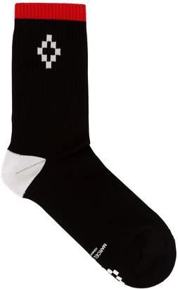 Marcelo Burlon County of Milan Cross Stripe Cotton Blend Socks