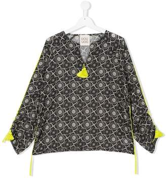 Douuod Kids TEEN tasselled floral blouse