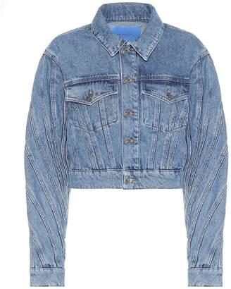Thierry Mugler Cropped denim jacket