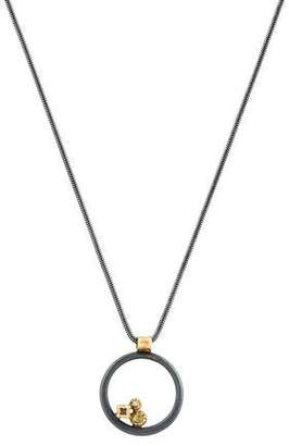Todd Reed Diamond Open Circle Pendant Necklace