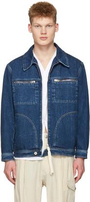 Loewe Indigo Denim Zip Jacket $990 thestylecure.com