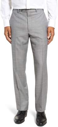 93befaff40072 John W. Nordstrom R) Traditional Fit Flat Front Solid Wool Trousers