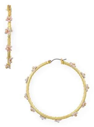 Rebecca Minkoff Calla Floral Stud Hoop Earrings