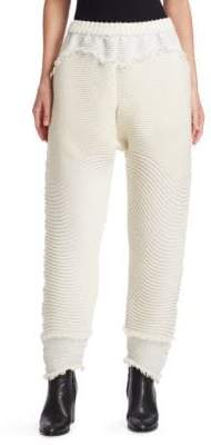 Issey Miyake Hawk Distressed Tapered Pants