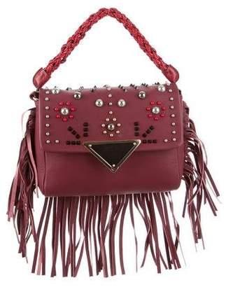 Sara Battaglia Medium Fringe Amber Shoulder Bag