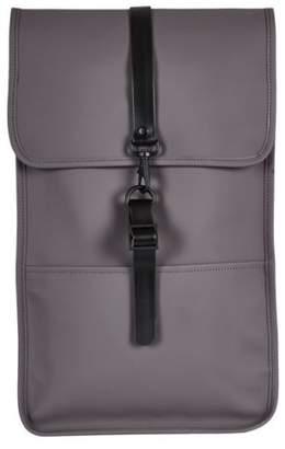 Rains New Mens Grey Large Polyester Backpack Backpacks