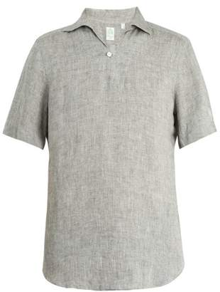 Finamore 1925 - Palma Short Sleeved Linen Shirt - Mens - Green