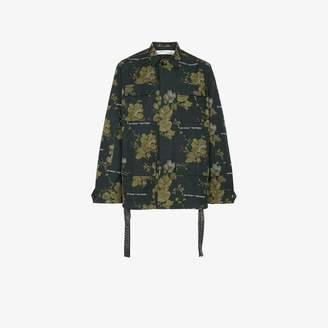 Off-White Off White x Browns green floral shirt jacket