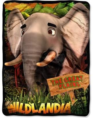 "AR+ Wildlandia Plains Elephant 46"" x 60"" Micro Raschel Throw with AR Technology by The Northwest Co."