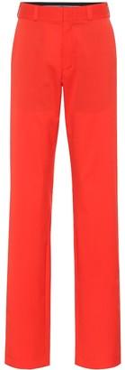 Vetements High-rise straight wool pants