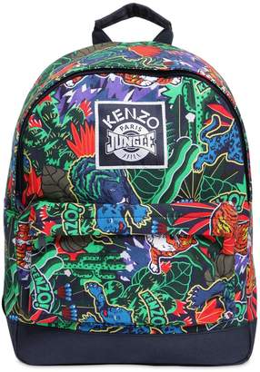 Kenzo Jungle Print Cotton Canvas Backpack