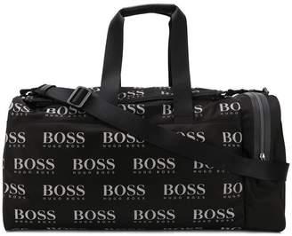 HUGO BOSS logo print holdall