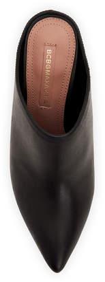 BCBGMAXAZRIA Antonia High-Heel Leather Mules