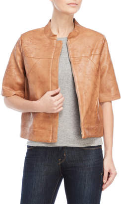 BCBGeneration Faux Leather Elbow Sleeve Jacket