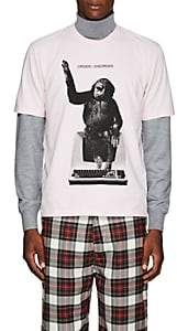 "Undercover Men's ""Order/Disorder"" Monkey-Computer Cotton T-Shirt - Pink"