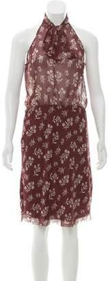 Nili Lotan Printed Sheer Midi Dress