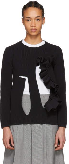 Black Cutout Sweater