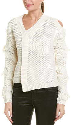 Yigal Azrouel Fringe Wool Sweater
