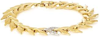 Cathy Waterman Women's White Diamond & Yellow Gold Wheat-Link Bracelet