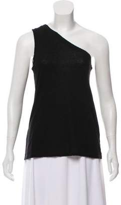 RtA Denim One-Shoulder Sleeveless Top