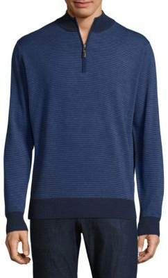 Peter Millar Striped Merino Wool Pullover