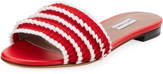 Tabitha Simmons Sprinkles Pleated Grosgrain Slide Sandal