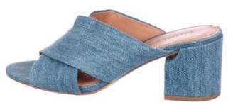 Sigerson Morrison Denim Slide Sandals