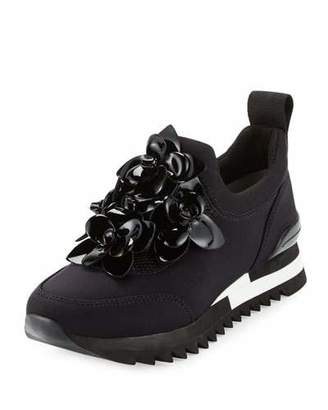 Tory Burch Blossom Neoprene Sneaker, Black $295 thestylecure.com