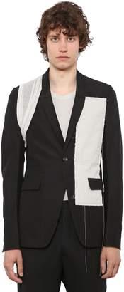 Rick Owens Patch Cotton Jacket W/ Details