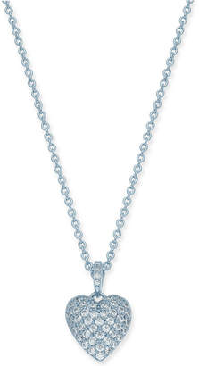 "Danori Crystal Pave Heart Pendant Necklace, 16"" + 2"" extender"