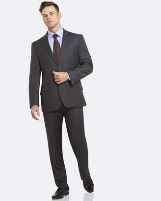 PGH Pure Wool Two-Trouser Fine Stripe Grey Suit