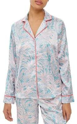 Topshop Tropical Satin Shirt