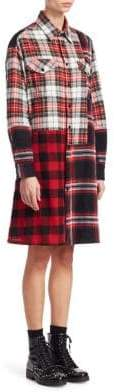 McQ Plaid Long-Sleeve Tunic